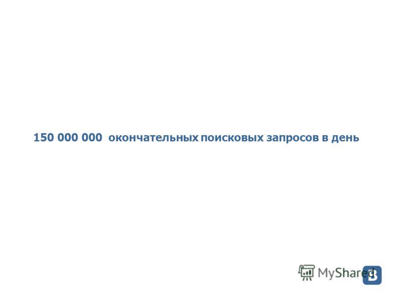 150 000 000 окончательных поисковых запросов в день