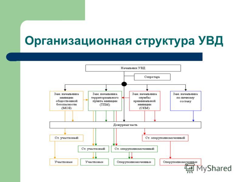 Презентация на тему Отчет о прохождении производственной  4 Организационная структура УВД