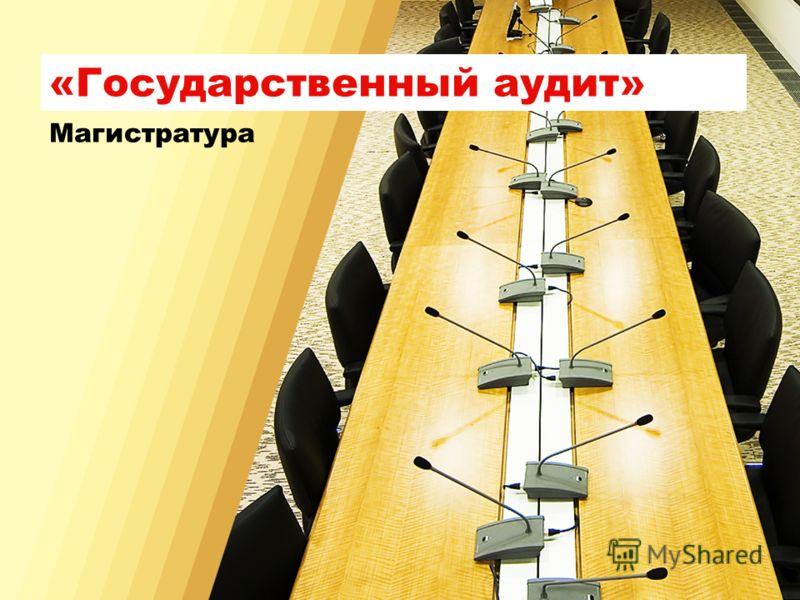 «Государственный аудит» Магистратура