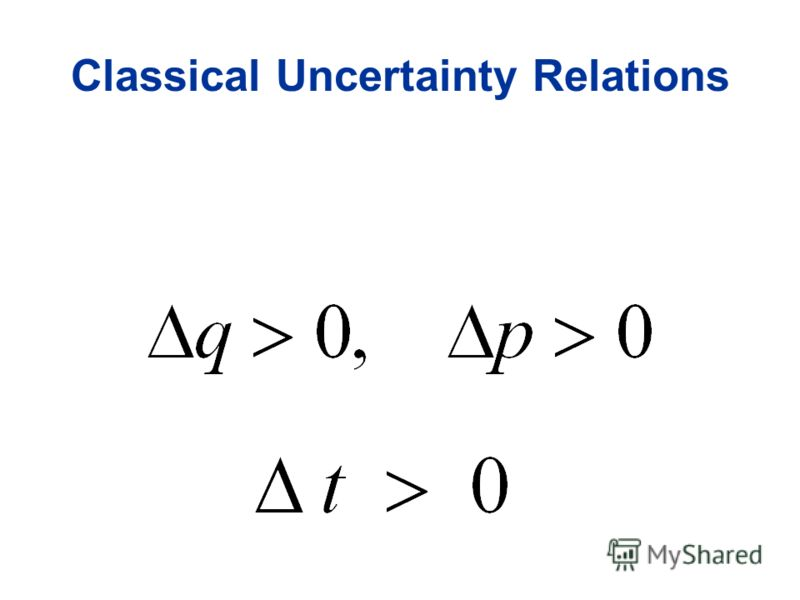 Classical Uncertainty Relations