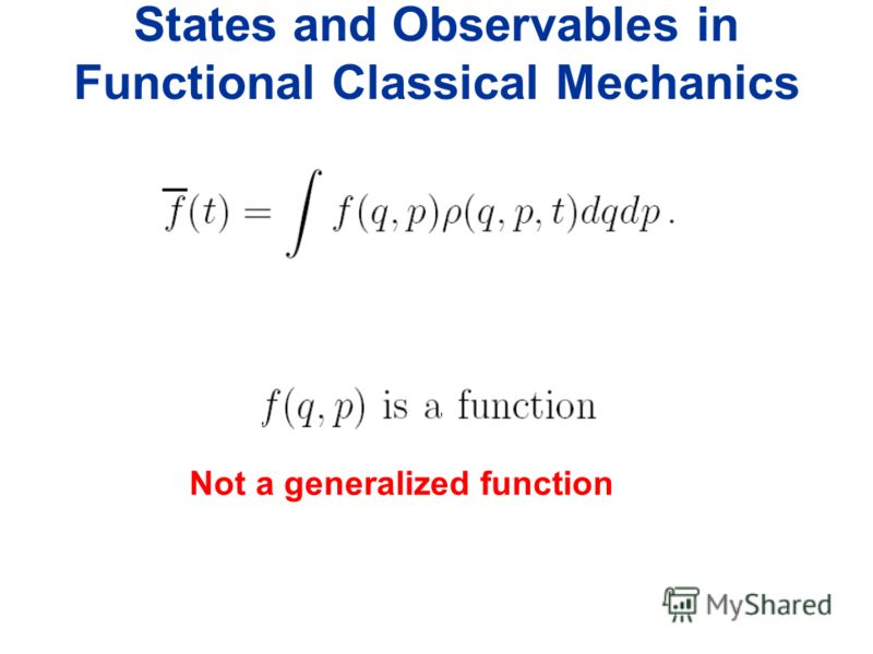 Not a generalized function