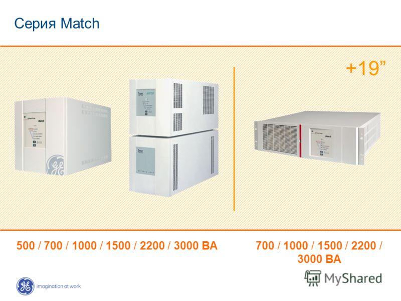 Серия Match 700 / 1000 / 1500 / 2200 / 3000 ВА 500 / 700 / 1000 / 1500 / 2200 / 3000 ВА +19