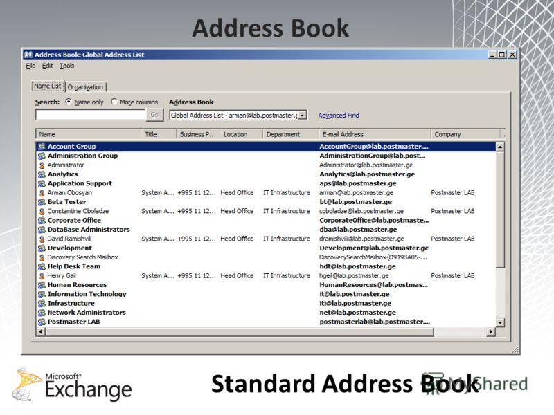 Address Book Standard Address Book