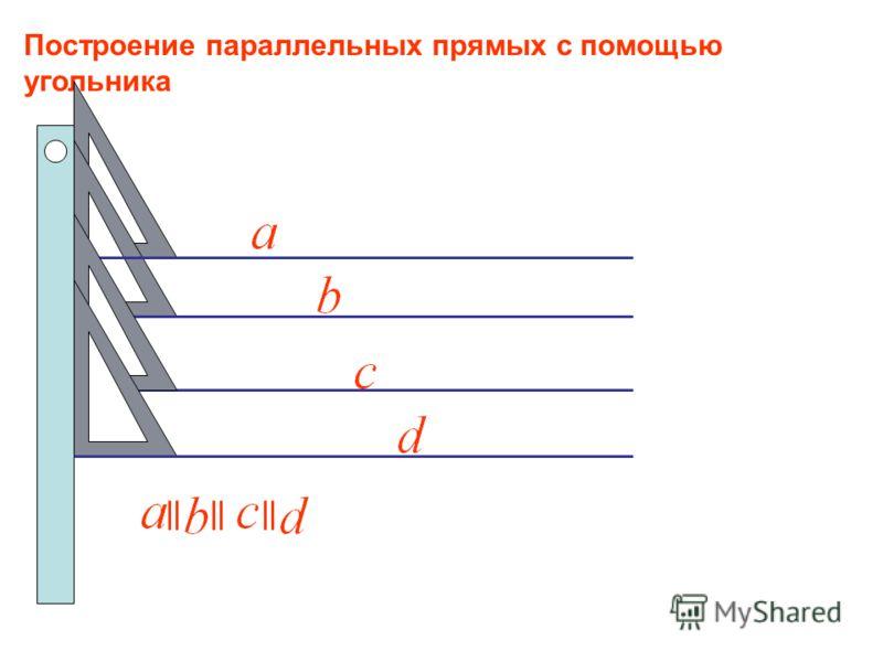 Две прямые называются параллельными, если они не пересекаются. Определение параллельных прямых