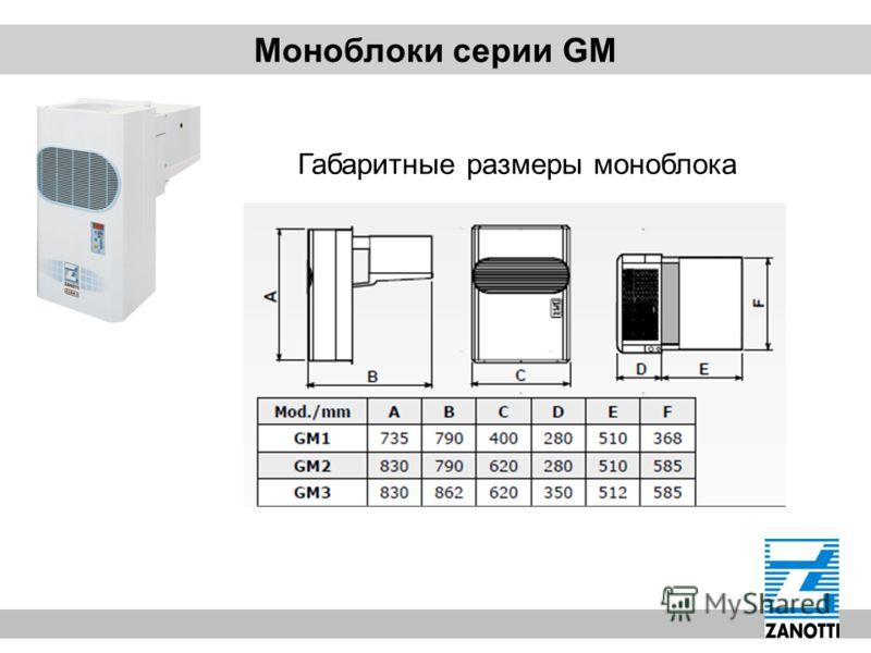 Моноблоки серии GM Габаритные размеры моноблока