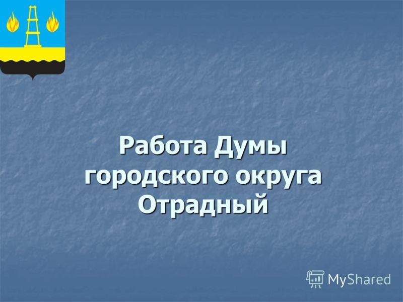 Работа Думы городского округа Отрадный