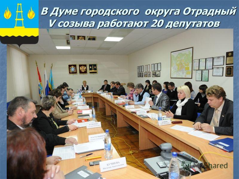 В Думе городского округа Отрадный V созыва работают 20 депутатов В Думе городского округа Отрадный V созыва работают 20 депутатов