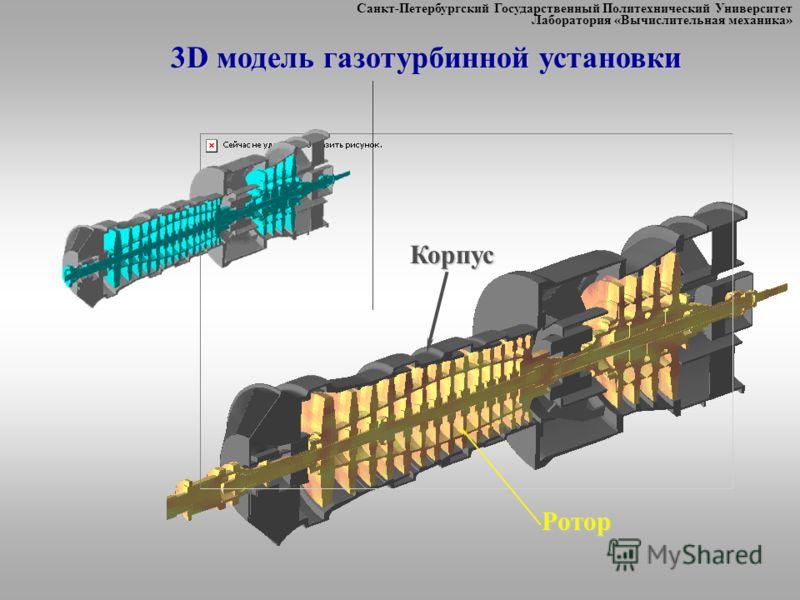 Санкт-Петербургский Государственный Политехнический Университет Лаборатория «Вычислительная механика»Корпус Ротор 3D модель газотурбинной установки