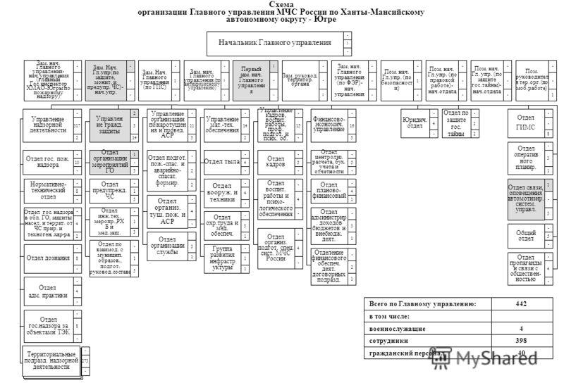 Схема организации Главного