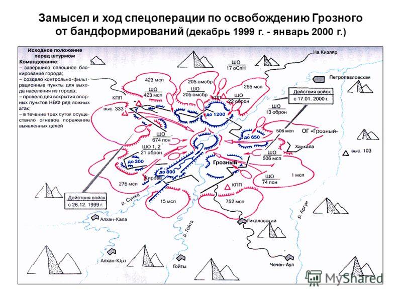 Замысел и ход спецоперации по освобождению Грозного от бандформирований (декабрь 1999 г. - январь 2000 г.)