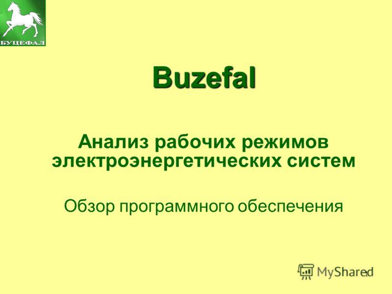 1 Buzefal Анализ рабочих режимов электроэнергетических систем Обзор программного обеспечения
