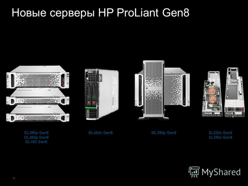 18 Новые серверы HP ProLiant Gen8 BL460c Gen8DL380p Gen8 DL360p Gen8 DL160 Gen8 ML350p Gen8SL230s Gen8 SL250s Gen8
