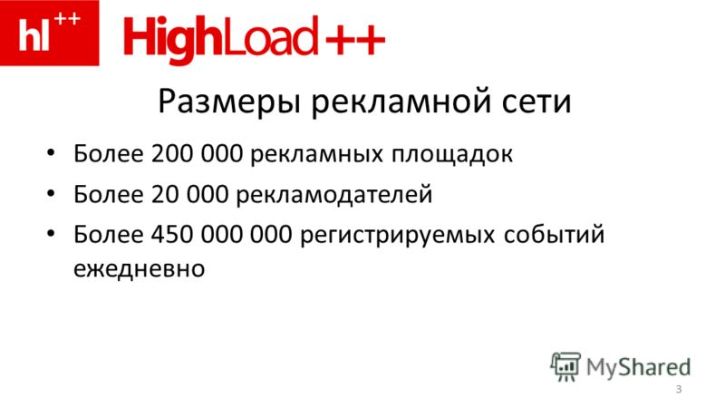 3 Размеры рекламной сети Более 200 000 рекламных площадок Более 20 000 рекламодателей Более 450 000 000 регистрируемых событий ежедневно 3