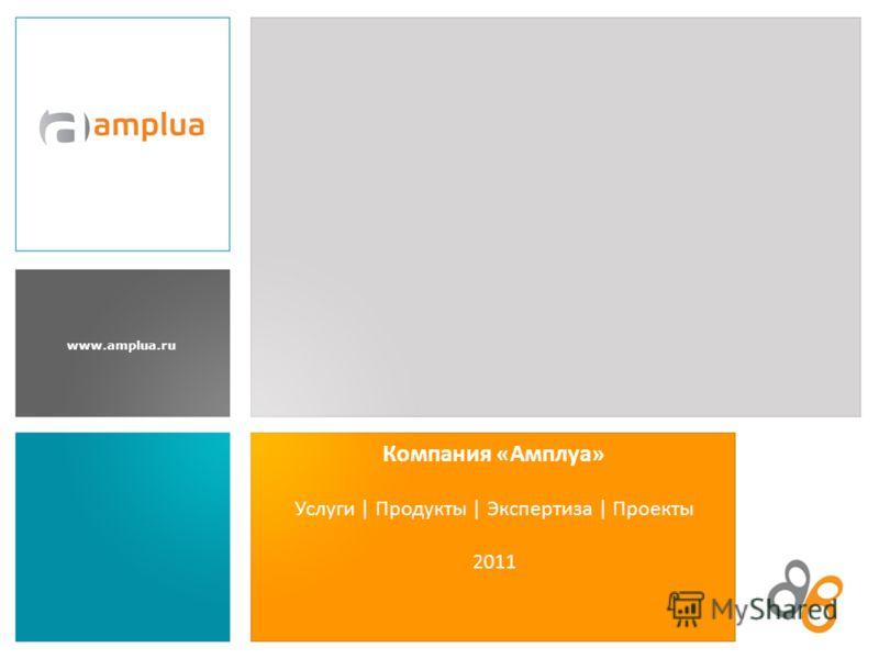 www.amplua.ru Услуги | Продукты | Экспертиза | Проекты 2011 Компания «Амплуа»
