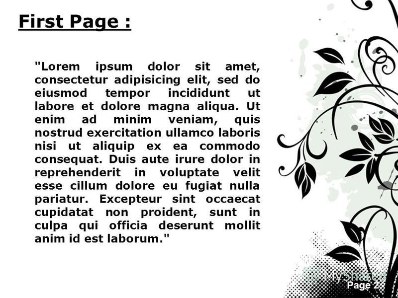Page 2 First Page :