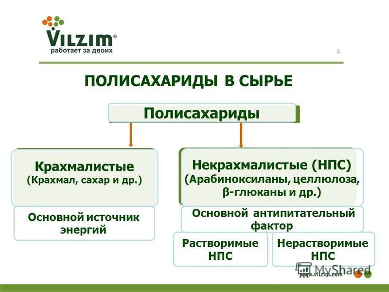 ПОЛИСАХАРИДЫ В СЫРЬЕ 6 Полисахариды Крахмалистые (Крахмал, сахар и др.) Некрахмалистые (НПС) (Арабиноксиланы, целлюлоза, β-глюканы и др.) Растворимые НПС Основной источник энергий Нерастворимые НПС Основной анти питательный фактор
