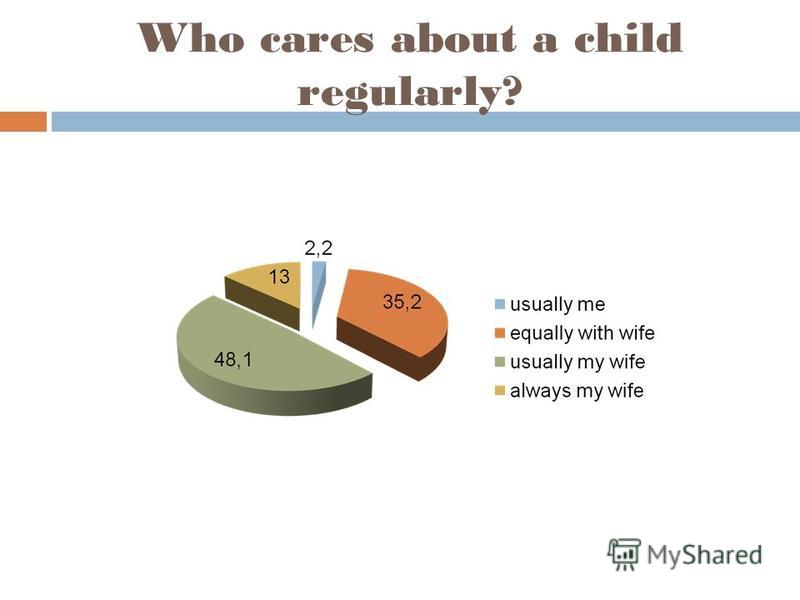 Who cares about a child regularly?