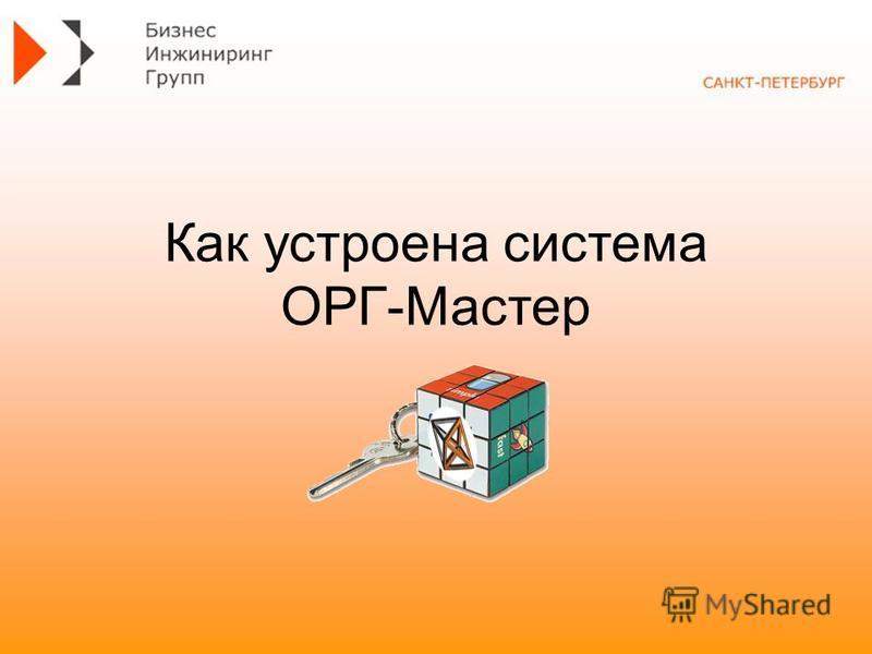 Как устроена система ОРГ-Мастер