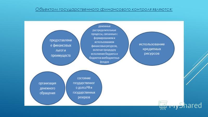 Объектом государственного финансового контроля являются:
