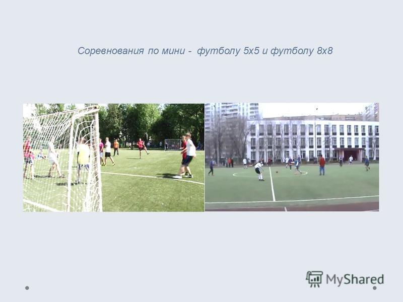 Соревнования по мини - футболу 5 х 5 и футболу 8 х 8