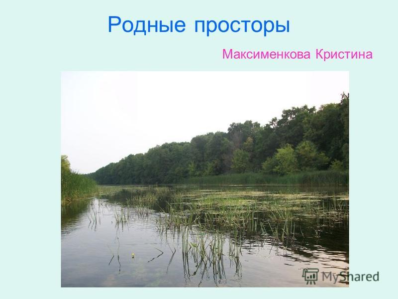 Родные просторы Максименкова Кристина
