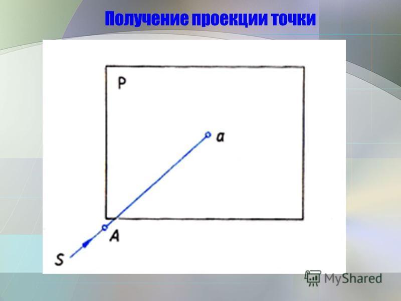 Получение проекции точки