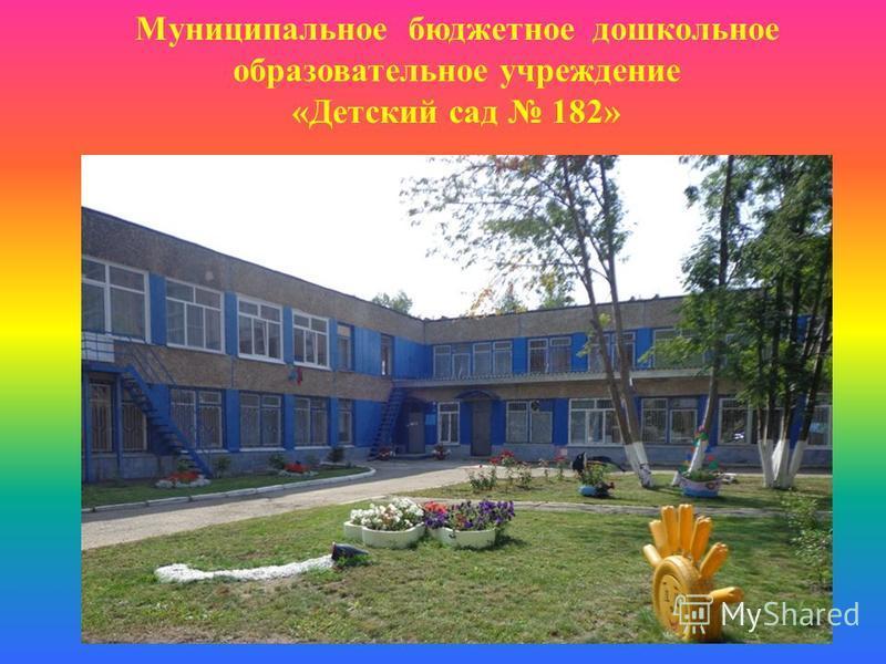 Муниципальное бюджетное дошкольное образовательное учреждение «Детский сад 182»