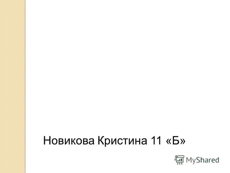 Новикова Кристина 11 «Б»