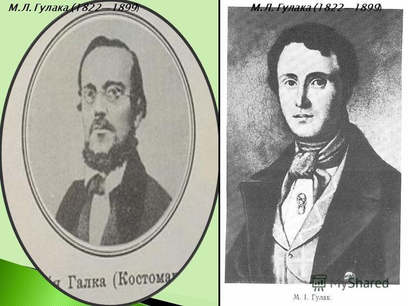 М.Л. Гулака (18221899)
