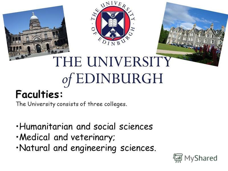 Faculties: The University consists of three colleges. Humanitarian and social sciences Medical and veterinary; Natural and engineering sciences.