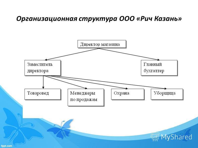 Организационная структура ООО «Рич Казань»