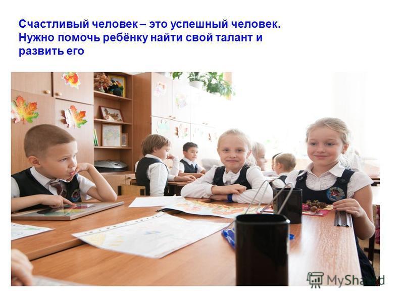 Счастливый человек – это успешный человек. Нужно помочь ребёнку найти свой талант и развить его