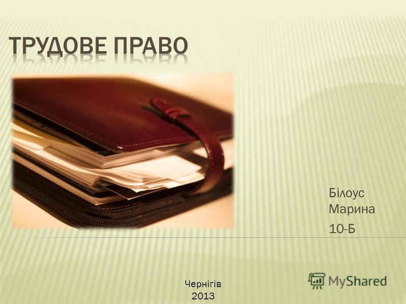Білоус Марина 10-Б Чернігів 2013