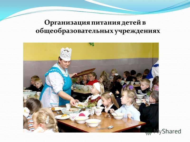 Организация питания детей в общеобразовательных учреждениях