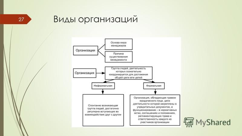 Виды организаций 27