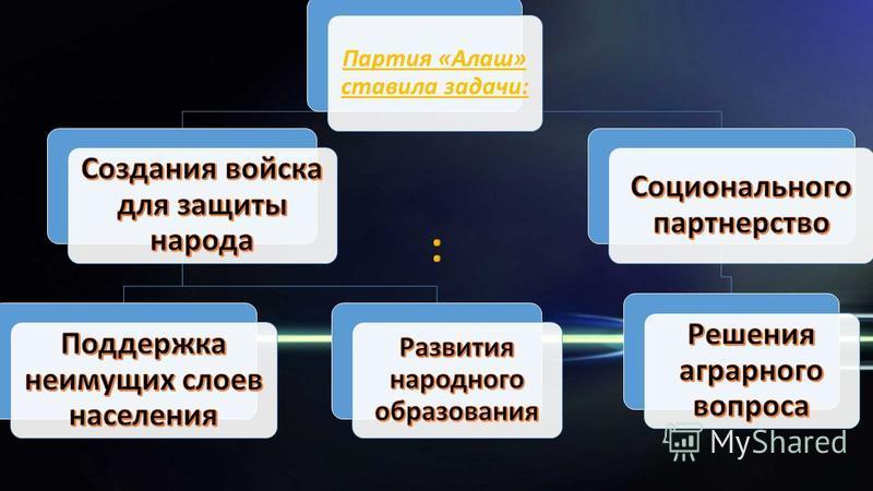 Партия «Алаш» ставила задачи: