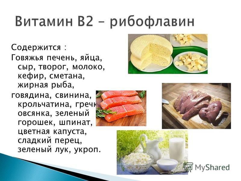 Содержится : Говяжья печень, яйца, сыр, творог, молоко, кефир, сметана, жирная рыба, говядина, свинина, крольчатина, гречка, овсянка, зеленый горошек, шпинат, цветная капуста, сладкий перец, зеленый лук, укроп.