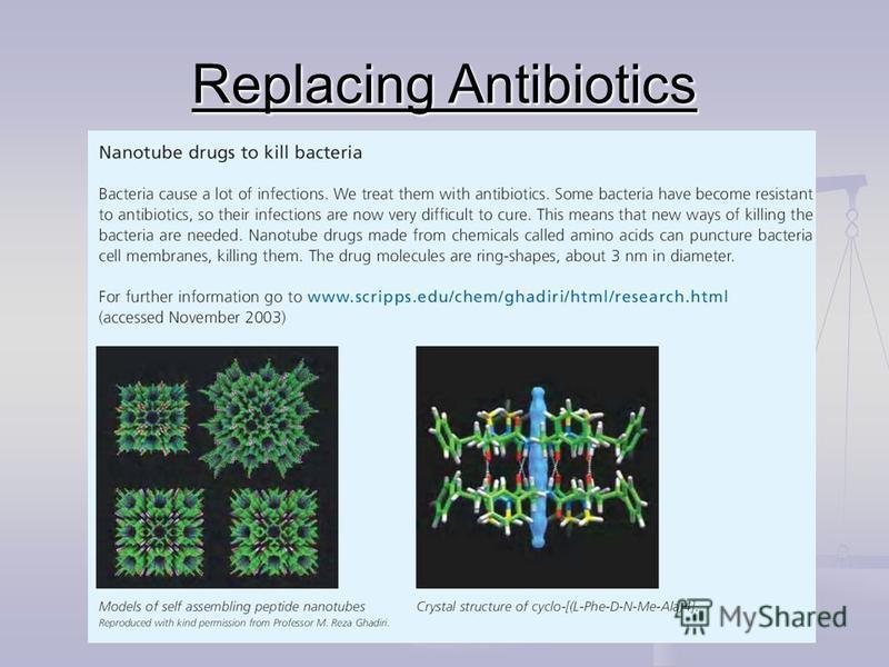 Replacing Antibiotics