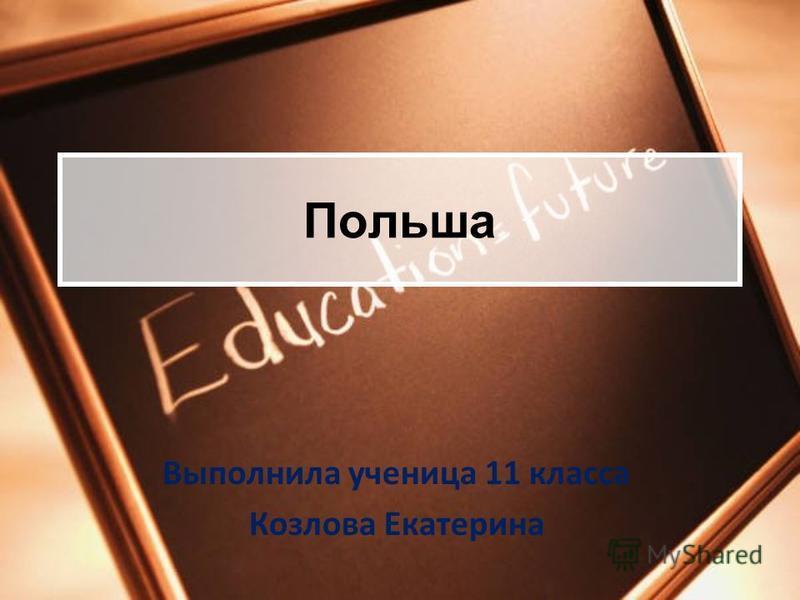 Польша Выполнила ученица 11 класса Козлова Екатерина