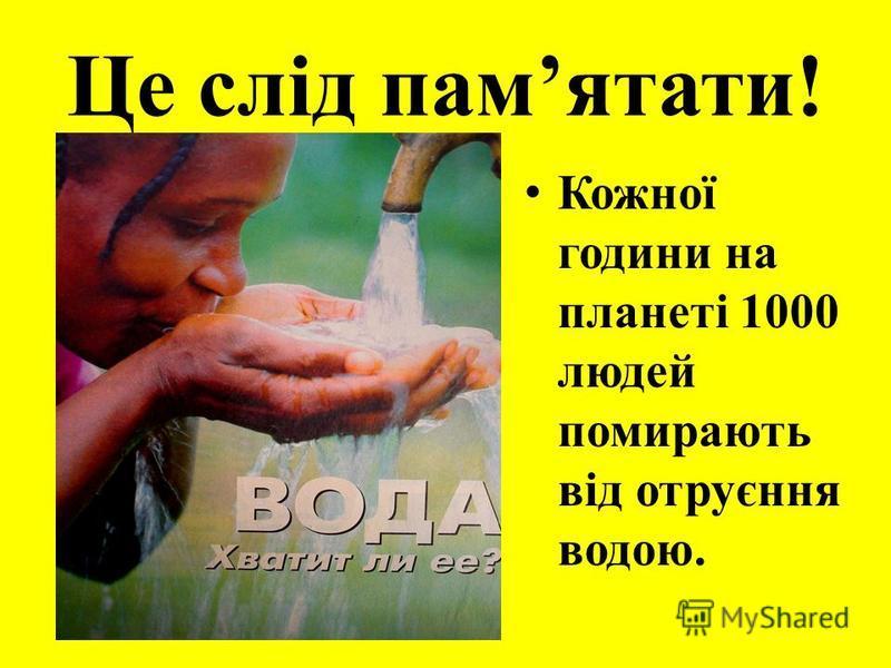 Це слід памятати! Кожної години на планеті 1000 людей помирають від отруєння водою.