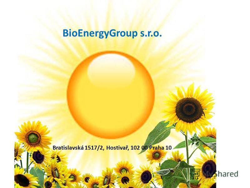 BioEnergyGroup s.r.o. Bratislavská 1517/2, Hostivař, 102 00 Praha 10