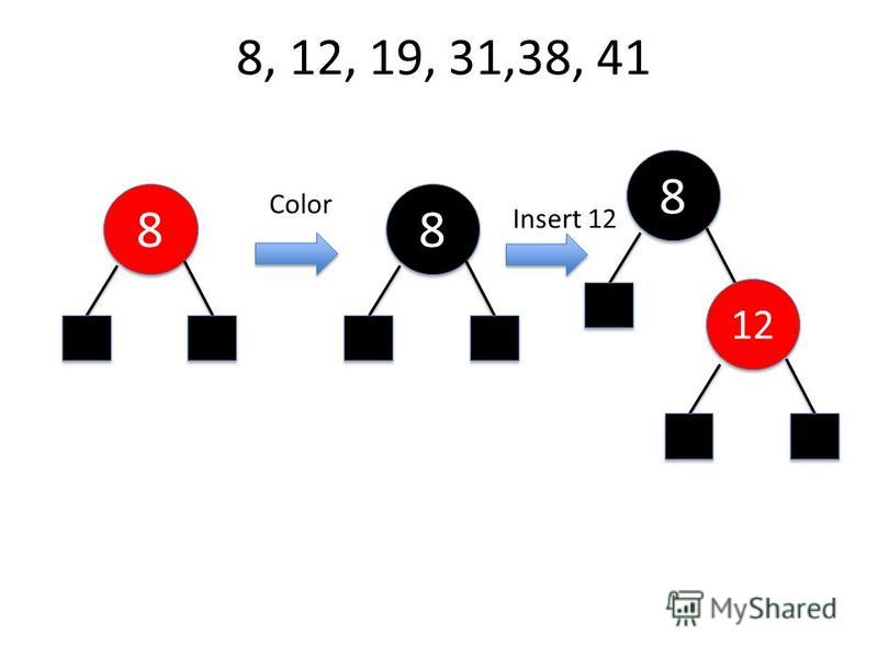8, 12, 19, 31,38, 41 8 8 Color 8 8 8 8 12 Insert 12