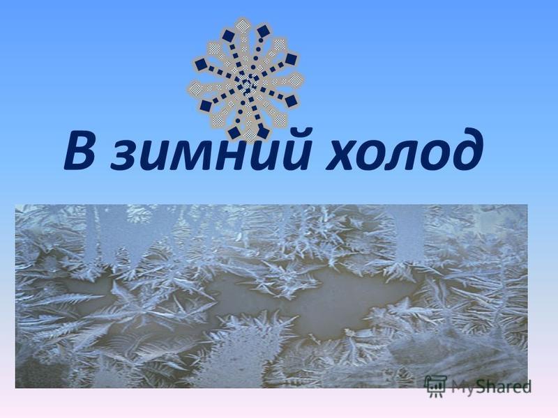 В зимний холод