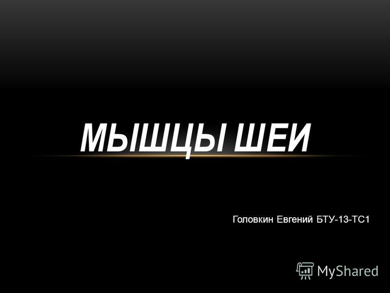 МЫШЦЫ ШЕИ Головкин Евгений БТУ-13-ТС1