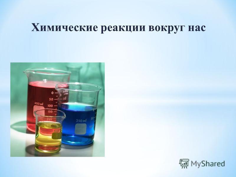 Химические реакции вокруг нас