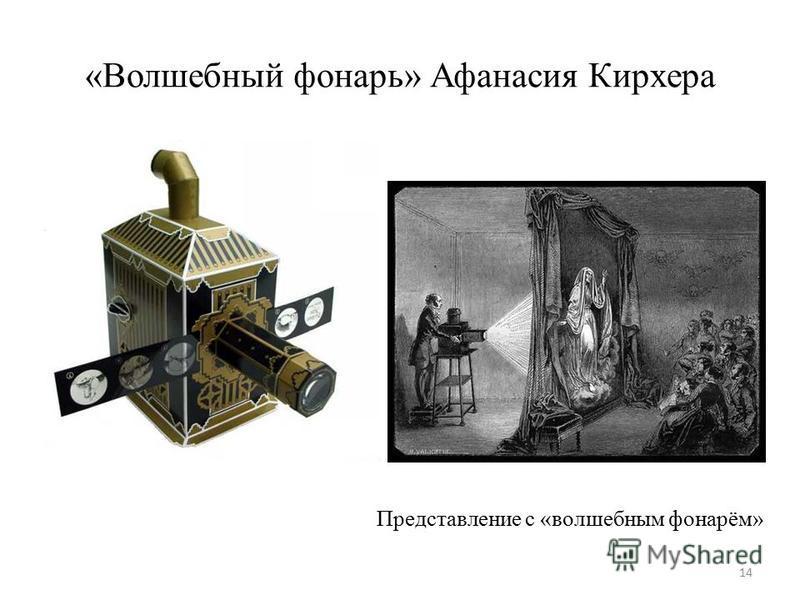 «Волшебный фонарь» Афанасия Кирхера 14 Представление с «волшебным фонарём»