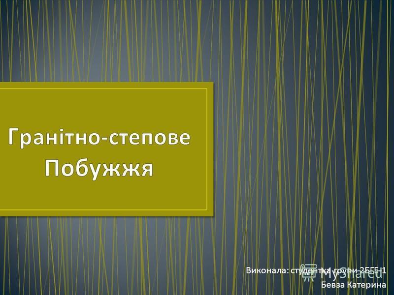 Виконала : студентка групи 2 БГЕ -1 Бевза Катерина