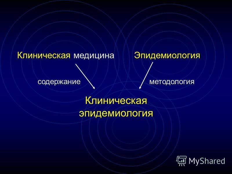 Клиническая медицина Эпидемиология Клиническая эпидемиология содержание методология