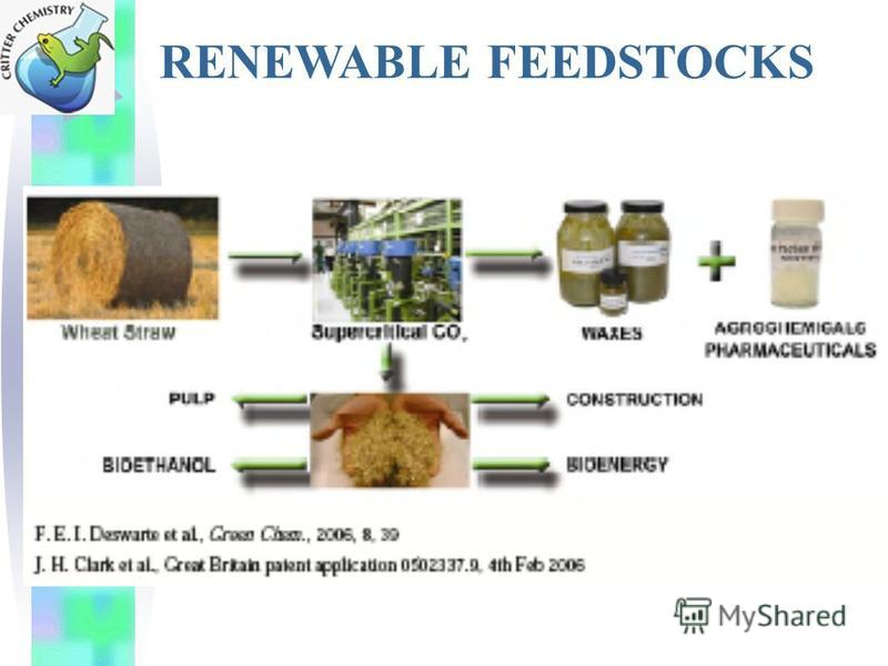 RENEWABLE FEEDSTOCKS
