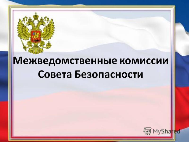 Межведомственные комиссии Совета Безопасности